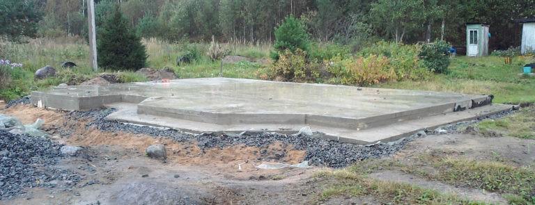 Как залить фундамент в воде
