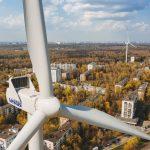 Поля с ветряками (ветровыми электростанциями)