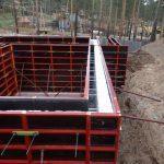 Устройство опалубки для монолитного строительства