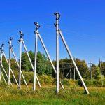 Опоры ЛЭП из древесины и железобетона для воздушных линий