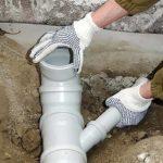 Укладка труб канализационной системы